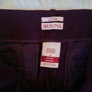 Merona Pants - Maroon cropped stretchy dress pants